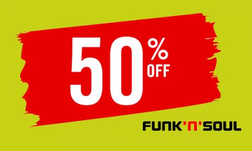 Promocja w sklepie Funk`N`Soul. Durga rzecz - 50%
