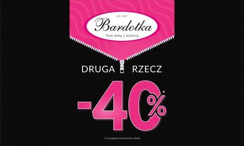 PROMOCJA w sklepie BARDOTKA - na powitanie -40% na drugi produkt!