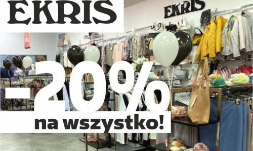 EKRIS - PROMOCJA -20% na wszystko!